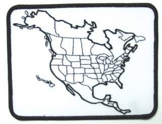 Amazoncom US Map American Flag Patch United States Motorcycle