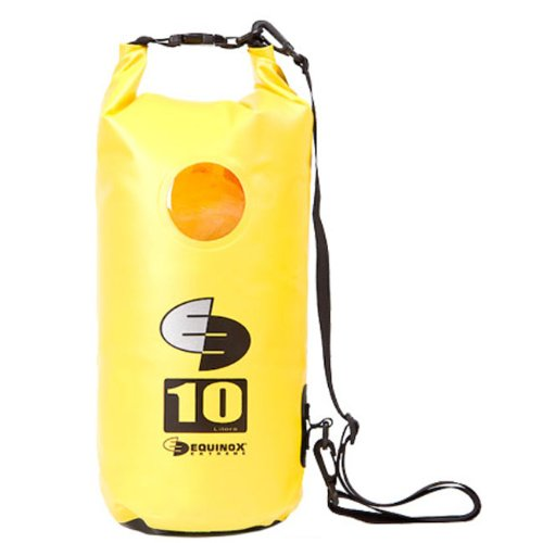 10L 10 Liter Waterproof Dry Bag for Kayaking, Rafting, Canoeing, Fishing, Camping, Hiking, and More. Yellow by Equinox Extreme
