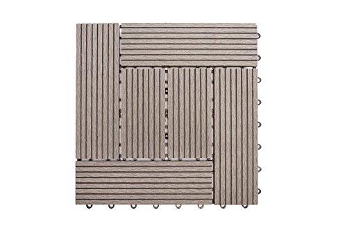 IncStores Helios Deck Tiles (6 Slat) 11 tiles per case (Grey)