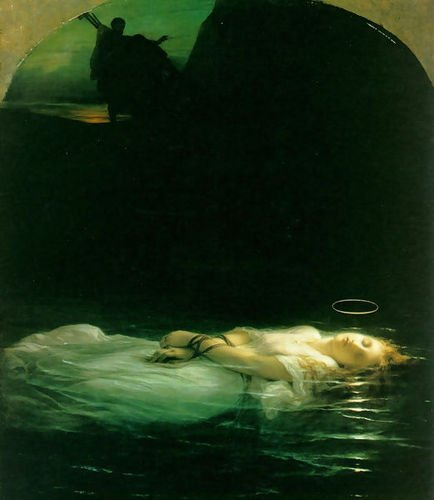 Paul Delaroche Young Christian Martyr 1855 72x84 [Kitchen] by 1st Art Gallery