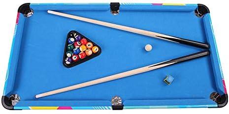 Pandady Juego de Mesa de Billar Mini Set, Juego de Billar Incluye Bolas de Juego, Palos, Tiza, Pincel y triángulo portátil y Divertido para Toda la Familia,Blue: Amazon.es: Hogar