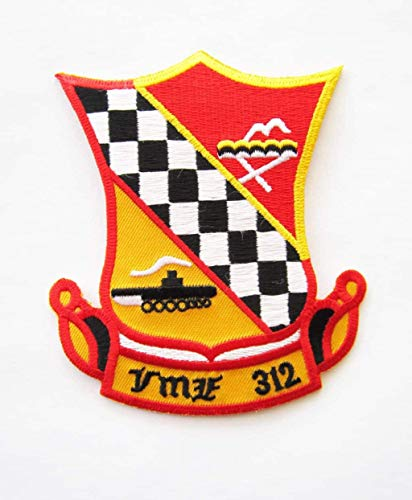 - VMF-312 Checkerboards Patch - Plastic Backing