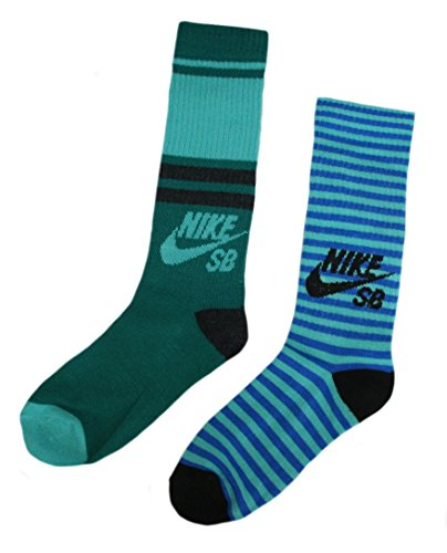 Nike SB 2 Pairs/Pack Boy's Crew Socks, Youth, Mint Green 5Y-7Y (Nike Sb Shoes Youth)