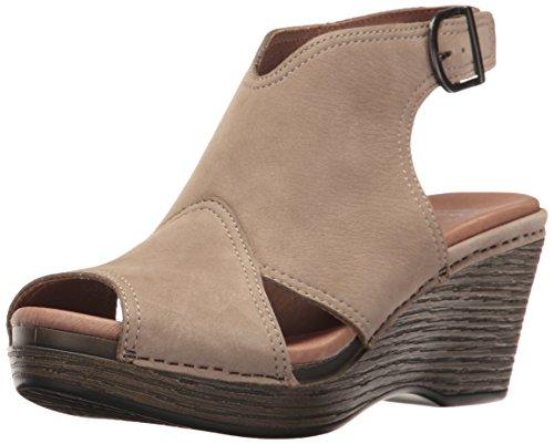 Dansko Women's Vanda Ankle Bootie, Taupe Milled Nubuck, 39 EU/8.5-9 M US