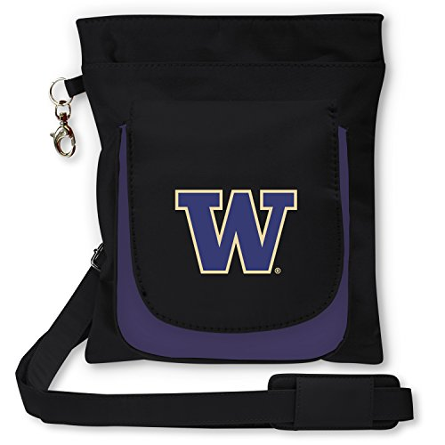 (Charm14 NCAA Washington Huskies Crossbody Purse Crossbody Purse-Handbag-Travel)