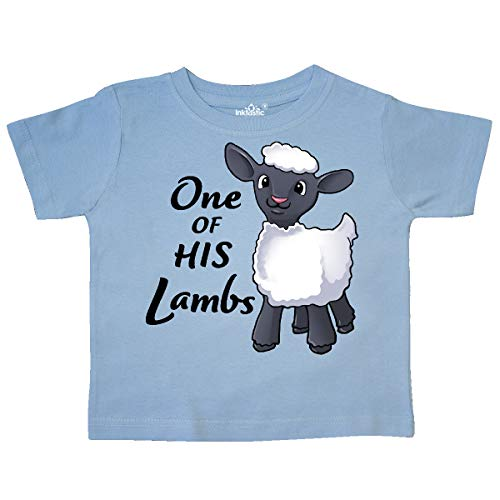 inktastic - One of His Lambs- Easter Sheep Toddler T-Shirt 4T Light Blue - Light T-shirt Lamb