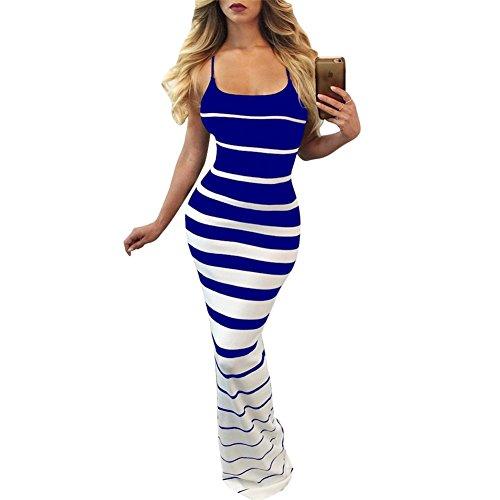 blue and black striped dress - 8