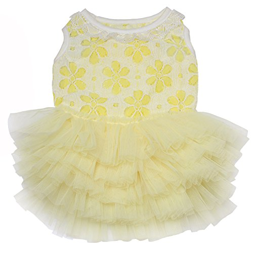TONY HOBY Pet Dog Tutu Dress Dog Wedding Princess Dress for Small Medium Large Dogs by TONY HOBY