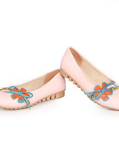 Flats pink Casual PDX punta cn34 rosa mujer redonda de zapatos us5 azul talón piel de plano sintética uk3 Beige eu35 vCvqHxZr