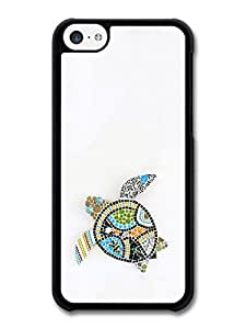 MMZ DIY PHONE CASEMosaic Turtle in Colourful Fashion Style with Gecko case for iphone 6 plus 5.5 inch