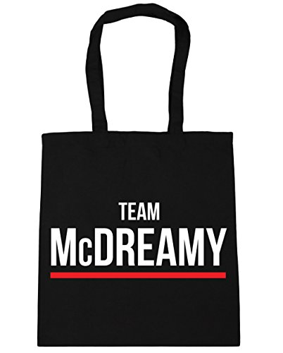 x38cm litres Bag Black 42cm Team McDreamy Beach HippoWarehouse Tote 10 Gym Shopping qTW4w8