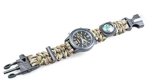 5-in-1-Travel-Watch-with-Survival-Flint-Fire-Starter-Paracord-Compass-Whistle-Gear-Buckle-Rescue-Rope-Bracelet