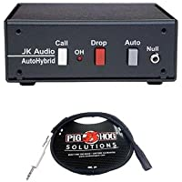 JK Audio AutoHybrid Full Duplex Auto Answer Telephone Audio Interface, 600 Ohms Output Impedance - With 3 XLR Male to 1/4 TRS Cable