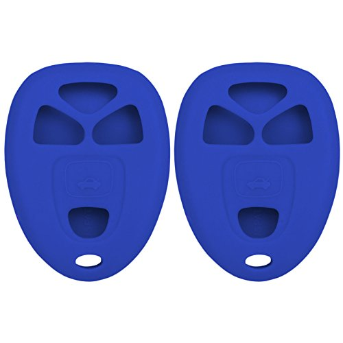 (Keyless2Go New Silicone Cover Protective Cases for Remote Key Fobs with FCC KOBGT04A OUC60270 OUC60221 - Blue (2 Pack))