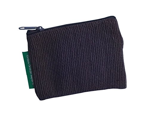 Green Breeze Imports Black Handmade Abaca Flat Coin Purse (2 pack)