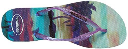 Blu flop Femminile Sottile Su Havaianas Paisage Flip Ghiaccio 8665U