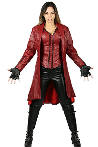 Xcoser Scarlet Witch Costume for Wanda Maximoff Hallloween Cosplay S