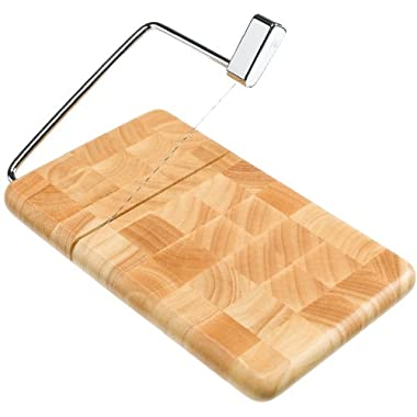 Prodyne BB-120 End Grain Beech wood Butcher Block Cheese Slicer