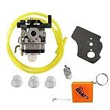 HURI Carburetor with Gasket Fuel Line Primer Bulb Fuel Filter for Honda 16100-Z0H-825 GX25 GX25N GX25NT 4 Cycle Engine FG110 Tiller FG110K1 Roto Tiller