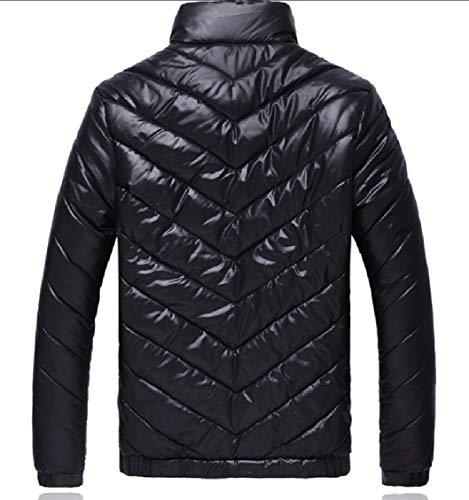 Zipper Men Black Jackets Overcoats Down Coats Collar Lightweight Stand Casual Gocgt XOxwgZqq