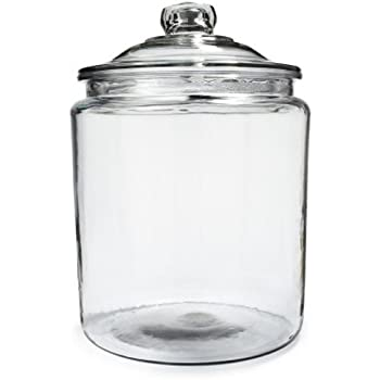 ANH69349T - Anchor Heritage Hill Glass Jar With Lid, 1 Gallon, Clear, Glass Lid