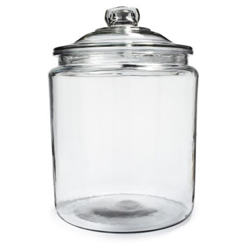 Anchor Starters - Anchor Hocking Heritage Hill Glass 0.5 Gallon Storage Jar, Set of 1