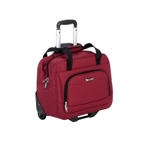 Delsey Luggage Helium Quantum Tote, Burgundy, One Size, Bags Central