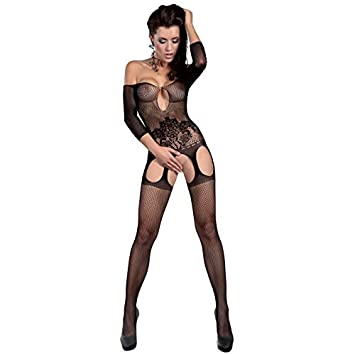 8d51819e032 Livia Corsetti sexy lingerie Small Large Black Adiva Bodystocking nightwear  lingerie sets sexy sexy underwear  Amazon.co.uk  Health   Personal Care