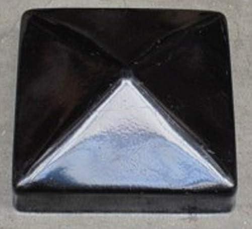Pfostenkappe Pyramide schwarz Pfostenabdeckung Metall f/ür 9 x 9 cm Pfosten