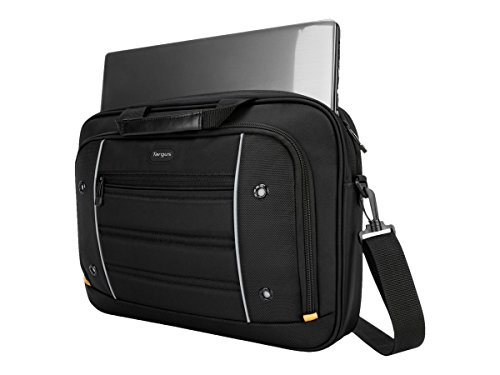 Targus Drifter Topload Carrying Briefcase for 16-Inch Notebook/Laptop, Black (TBT271)
