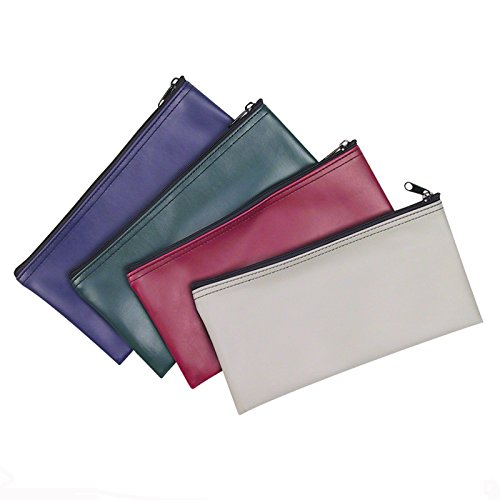 3-Piece Set PM Company Security Bank Deposit / Utility Zipper Coin Bag / Pouch Safe Money Organizer Bag / 11 X 5.5 Inches