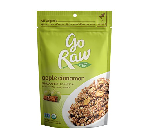 Go Raw Organic Superfood Sprouted Granola, Apple Cinnamon (pack of 2 16-ounce bags) -