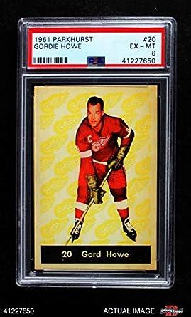 690422d8e 1961 Parkhurst   20 Gordie Howe Detroit Red Wings (Hockey Card) PSA 6 -