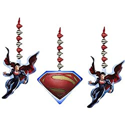 Superman Man of Steel Hanging Decorations (3pc)
