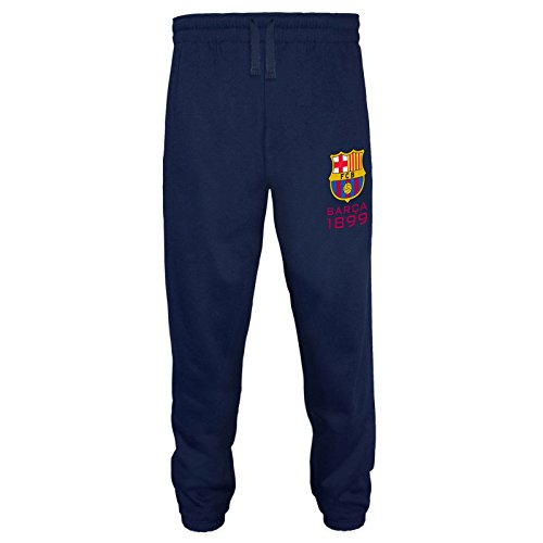 FC Barcelona Official Soccer Gift Mens Fleece Joggers Jog Pants