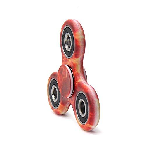 MASCOTKING Fidget Spinner Toy Stress Reducer Hand spinner fidget toys hand fidget (Red-E5)