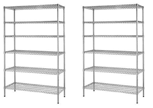 Shelving Unit Zinc Finish (Muscle Rack WS481872-Z Steel Shelving Unit, 6 Shelf, 48