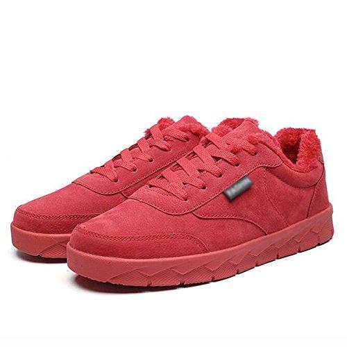 Sports Garder Pour Uk7 Loisirs Taille 5 Hommes Rouge Matériaux Couleurs Eu 8 41 D'hiver Chaussures Chaussures Feifei Antidérapants Et Cn42 Plaque couleur Qualité De Chaudes De 3 Haute Oq01w