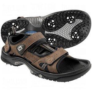 Footjoy Mens Greenjoys Golf Sandal 13.0 M Brown