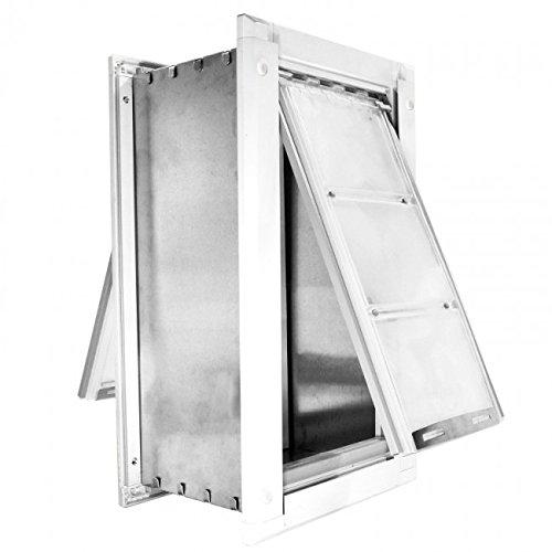 Endura Flap Endura Flap Medium Wall Mount - White Double Flap 8'' x 14'' pet door