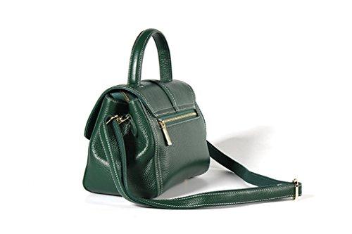 Mano trabajo Cuero bolsos Genuina Hecho Gran de RFID Ideal 4 Sucastle Genuino y hombro para Capacidad 4 a Mujer viaje Bloqueo pIwavqnx5O