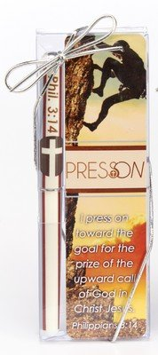 Christian Tools Of Affirmation 85293 Gift Set Pen & Bookmark - Press On