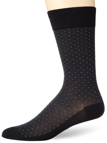 - Perry Ellis Men's All Over Pin Dot Microfiber Luxury Dress Sock, Black, Sock Size:10-13/Shoe Size: 6-12
