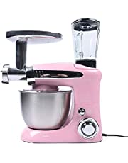 Food Processor Blender Stand Mixer Multifunctionele Juicer W/Mixing Bowl 3-in-1 (roze)