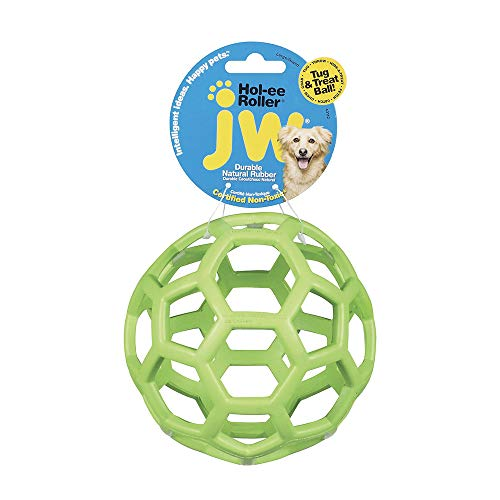 JW Hol-ee Roller Original Do It All Puzzle Ball – Hard Natural Rubber – Assorted Colors