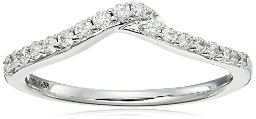 10k White Gold White Diamond Insert Ring (1/4cttw, H I Color, I1 I2 Clarity)