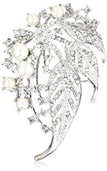 Nina 'Briella' Pearl and Cluster Brooch