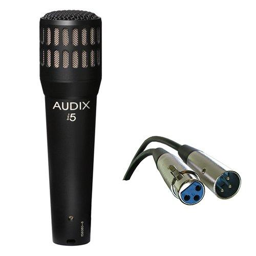 Audix i5 Dynamic Instrument Cardioid Microphone with XLR- XLR Cable (Instrument I5 Dynamic)