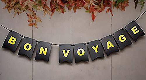 Bon Voyage Signs (Safe Journey - Bon Voyage Banner - So Long Banner - Retirement Party Decoration - Bon Voyage Decorations Card Stock - Travel Banner - Bon Voyage)