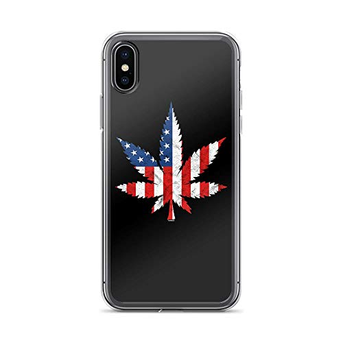 - iPhone X/XS Pure Clear Case Cases Cover USA Maple Leaf America Independence Day 4th of July Freedom United
